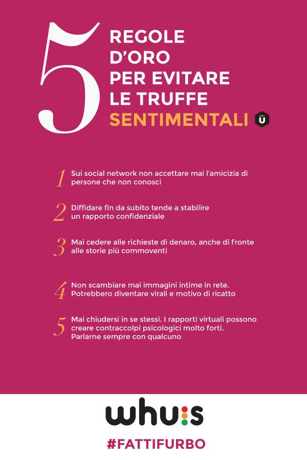 infografica truffe sentimentali